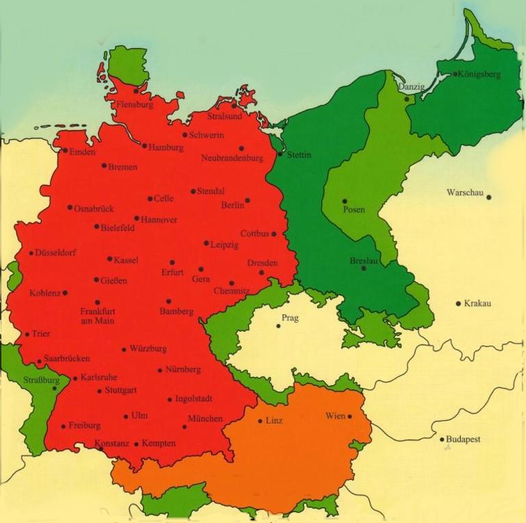Deutschlandkarte 1937